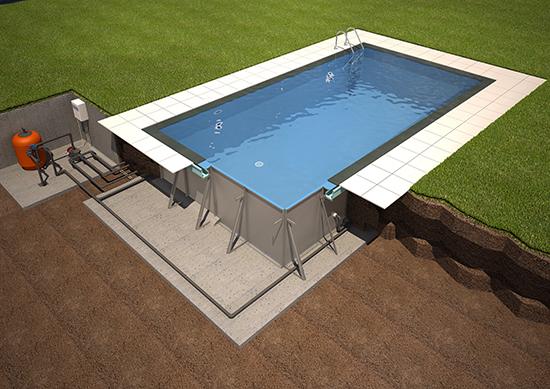 πισίνα μεταλλικά πάνελ